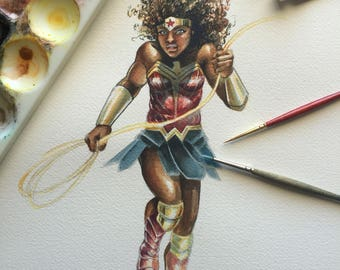 Wonder Woman Original Watercolour