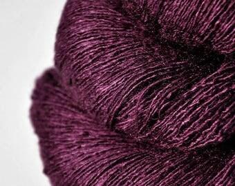 Fuchsia's last day -  Tussah Silk Lace Yarn