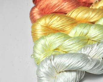 Bollywood costume - Gradient of Silk Tape Lace Yarn