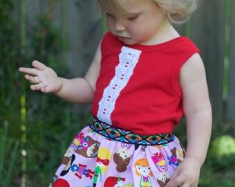 Ships fast - Baby and Girls superhero skirt - super girl skirt - superhero party - Superkidcapes - girls halloween costume