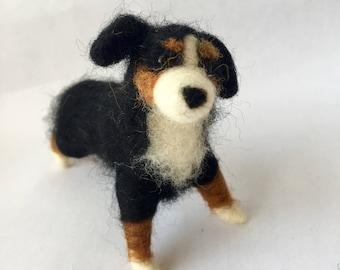 Needle Felted Bernese Mountain Dog
