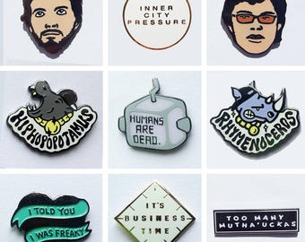 Flight of The Conchords Pin Collection - ALL 9 PINS!
