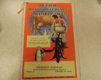 Delaval Yearbook, 1941 Delaval yearbook, farming book, dairy book, Colome SD Delaval yearbook, farm booklet, dairy booklet
