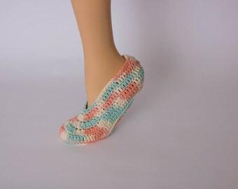 Cotton Spa Socks, Crochet Slippers, Spa Slippers