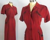 1940s Secretary Day Dress