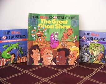 Vintage The Real Ghostbusters Books -Set of Three- 1987 - Simon & Schuster (Little Simon)- Collectibles - Columbia Pictures -Great Condition