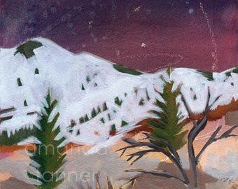 Landscape Painting Original Acrylic Sundance Utah Painting Original Acrylic Painting 8x10 wall art