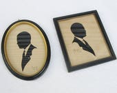 "2 Silhouettes of ""George,"" Framed, 1941"