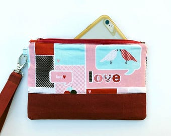 iPhone Android Samsung Galaxy Smartphone Wristlet Love Nest for Valentine