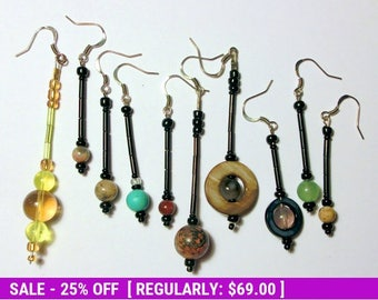 June SALE! Planet Earrings in Stone, Glass, and Shell - Complete Planet Set - Solar System Jewelry by Chain of Being