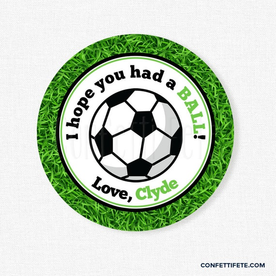 Soccer Party Favor Tags Birthday Favors Hope You