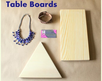 Jewelry Display Boards | Riser Board, Table Boards, Flat Display Boards, Trade Show, Craft Show, Retail Fixture