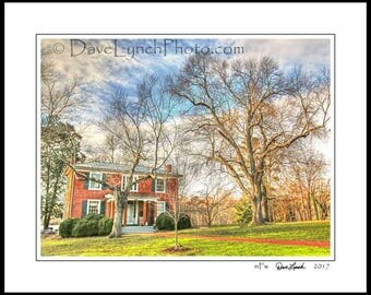 Farmville Virginia VA  - Hampden Sydney College - Hampden House - In Color - Black & White - Sepia - Art Photography Print by Dave Lynch