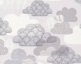 Organic Cotton Laminate - Cloud9 Matte Laminates - Passing Clouds