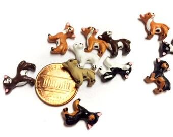4 Tiny Mixed Chihuahua Beads - CB861