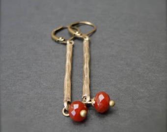 Jewelry / Dangle Drop Gemstone Earrings / Women's Jewelry / Gift for Her / Classic Simple Everyday Jewelry / Drop Stone Earrings