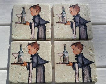 Practice Makes Perfect Stone Coaster Set of 4 Tea Coffee Beer Coasters