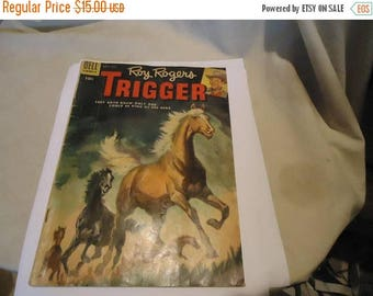 Ephemera & Books 50% Sale Vintage 1955 Roy Rogers March-May #16 Comic Book Dell Comics,  collectable