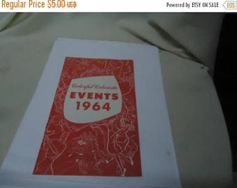 Ephemera & Books 50% Sale Vintage 1964 Cool Colorful Colorado Events Booklet, collectable