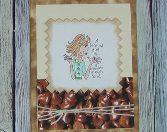 Handcrafted all occasion card about chocolate!--CB81217-19