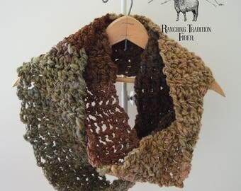 Infinity Wool Scarf ~made it handspun yarn~