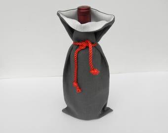 Christmas Gift Bag, Linen Wine Bag, Wine Gift Bag, Bottle Bag, Gift Bag, Wine Tote