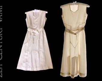Rare 1930s Silk Tennis or Sports Dress. Flapper. Jazz Age. Art Deco. 20s 30s.