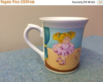 CLEARANCE 1984 Cabbage Patch Kids Mug - Ballerina Girl Coffee Cup Collectible Kitchen Kitsch CPK