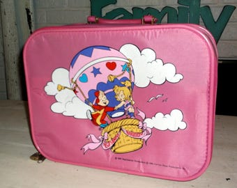 Vintage Alvin and the Chipmunks Going to Grandma's Suitcase Pink 1990 Karman / Ross Productions Bagdasarian Child's Suitcase