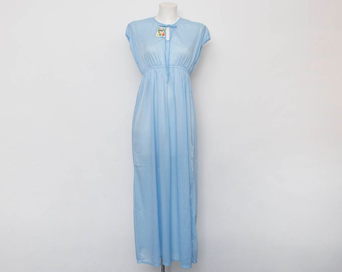 Nos vintage 70's nightgown blue  Size S