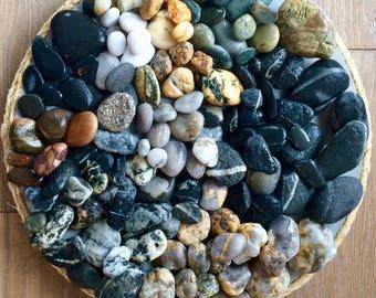 Rhode Island Beach Stones   150 Bulk Beach Stones   Worry Stones   Wishing Stones   Beach Wedding Rocks   Ocean Rocks   Beach Decor