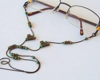Eyeglass Holder Chain, Brass Tone lanyard, Antique Style, Holidays Gift, Brass Chain, Eyewear Holder, Eyeglasses Chain, Eyeglasses Holder