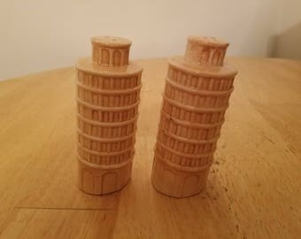 Vintage Leaning Tower of Pisa Salt and Pepper Shakers
