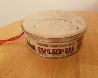 Vintage Tri Chem Liquid Embroidery Tin