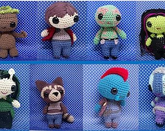 guardians of the galaxy amigurumi style custom made amigurumi doll