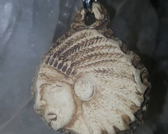 Indian Head Essential Oil Diffuser Necklace