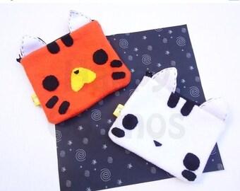 ON SALE - Tiger Zipper Pouch - Pencil Pouch, Pencil Case, School Supplies, Make Up Bag, 3DS Case, Phone Case, Coin Purse
