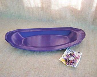 Summer Sale Purple Vanity Tray / Vanity Tray with Bonus Bracelet Set/ Beaded Bracelets with Trinket Dish in Purple Grape