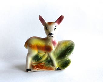 Vintage 1950's Ceramic Deer Planter! Super Cute!