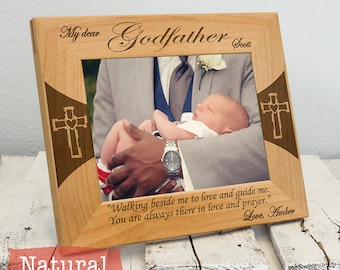Godfather Frame - Personalized Godfather Gifts - Godfather Picture Frame From Godchild Engraved-Color Choice
