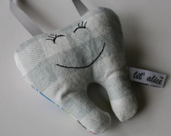 BOY Embroidered Tooth Fairy Pillow w/Doorhanger
