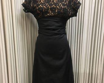 Vintage black 1950's dress