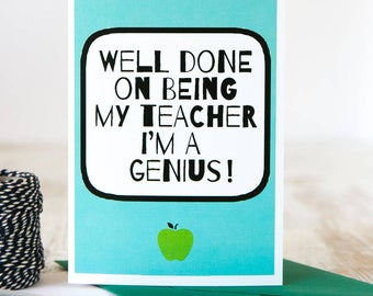 I'm A Genius | Card | Thank You Teacher | Teacher Card | Teacher Appreciation