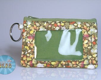 Totoro in Leaves Inspired Mini ID Wallet/Coin Purse