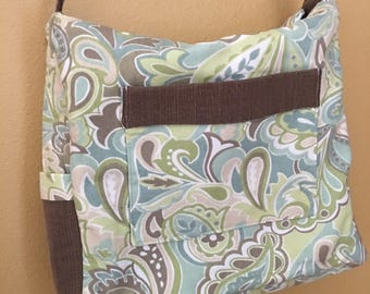 Breezy#1625, Zippered Knitting Bag, Zippered Knitting Tote,  Knitting Project Bag, Knitting Bag, Crochet Bag, Yarn Bag, Shoulder Purse, Bags