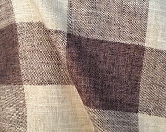 RUSTIC WOVEN buffalo check java brown beige multipurpose very French fabric