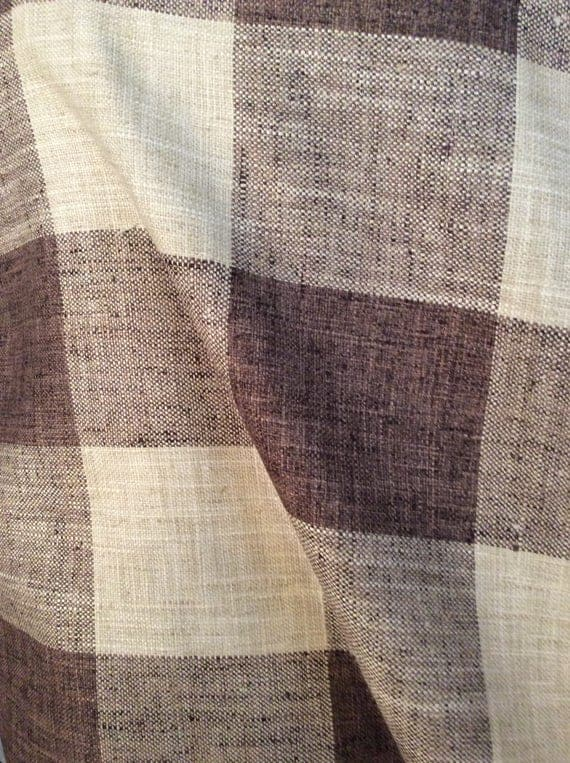 Rustic Woven Buffalo Check Java Brown Beige Multipurpose