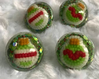 Candy Christmas Ornament Earring Sets