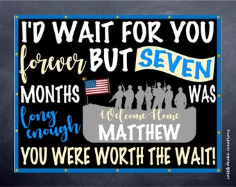 Worth The Wait Military I'd Wait For You Digital Printable Poster!