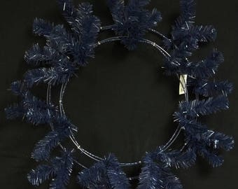 "ON SALE 24"" Navy Blue Deco Mesh Wreath CVW190 , Poly Mesh Supplies"